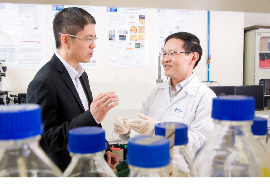 Johnson Chen and Lim Chwee Teck, Co-founders Biolidics Limited